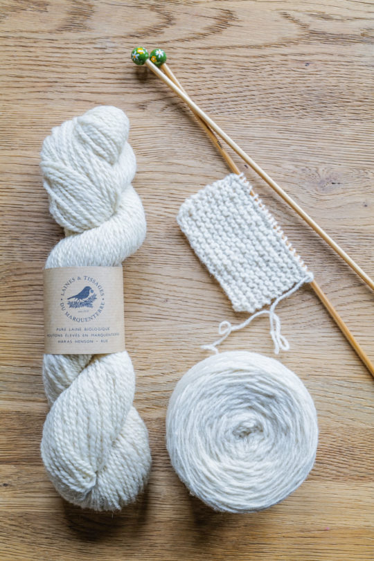 Laine à tricoter Blanche de Saint-Jean